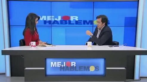 El agarrón entre Rodrigo Lara y Claudia Palacios en vivo