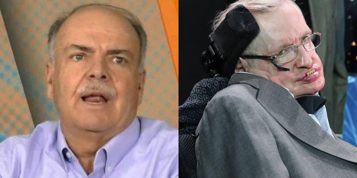 Iván Mejía recordó frase de Stephen Hawking sobre las mujeres