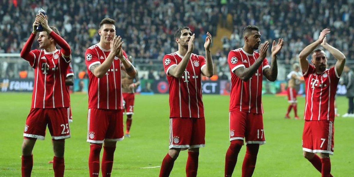 Bayern Munich avanza caminando a los cuartos de la Champions League