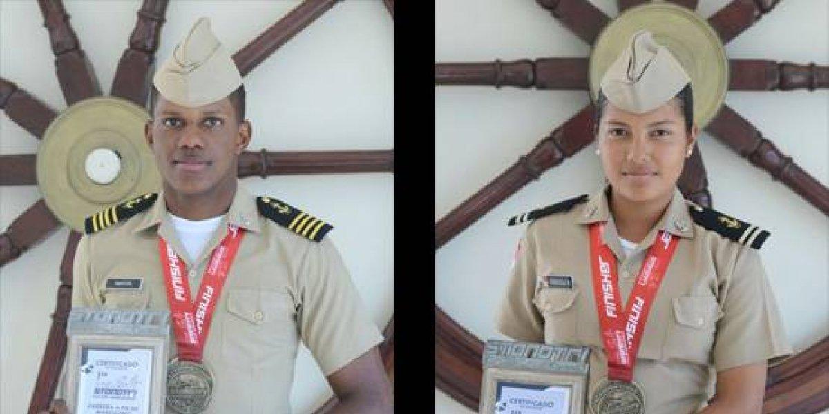 Guardiamarinas Mota y Urriola conquistan el triatlón de Cap Cana