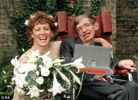 Stephen Hawking y Elaine Mason
