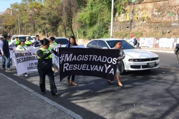 manifestación de Minera San Rafael