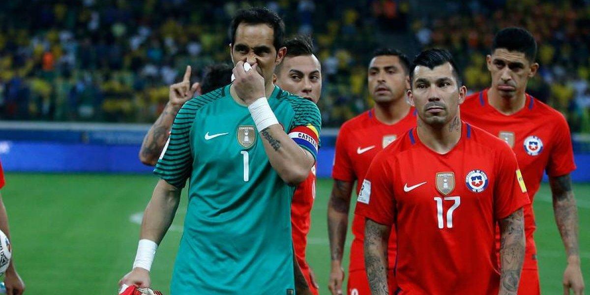 Chile terminó sufriendo en la última vez que Claudio Bravo se bajó de una nómina