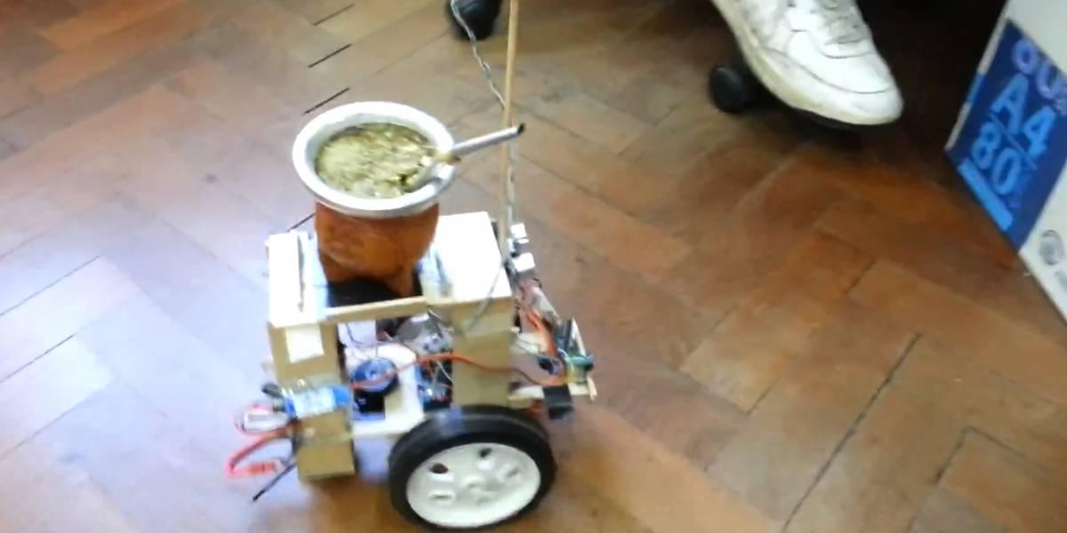 Un joven argentino inventó un robot para repartir el mate