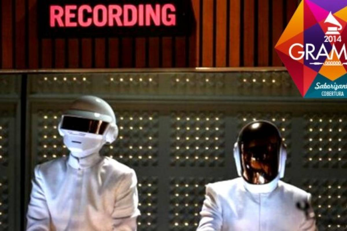Daft Punk, Stevie Wonder y Pharrell en vivo [#Grammys 2014]