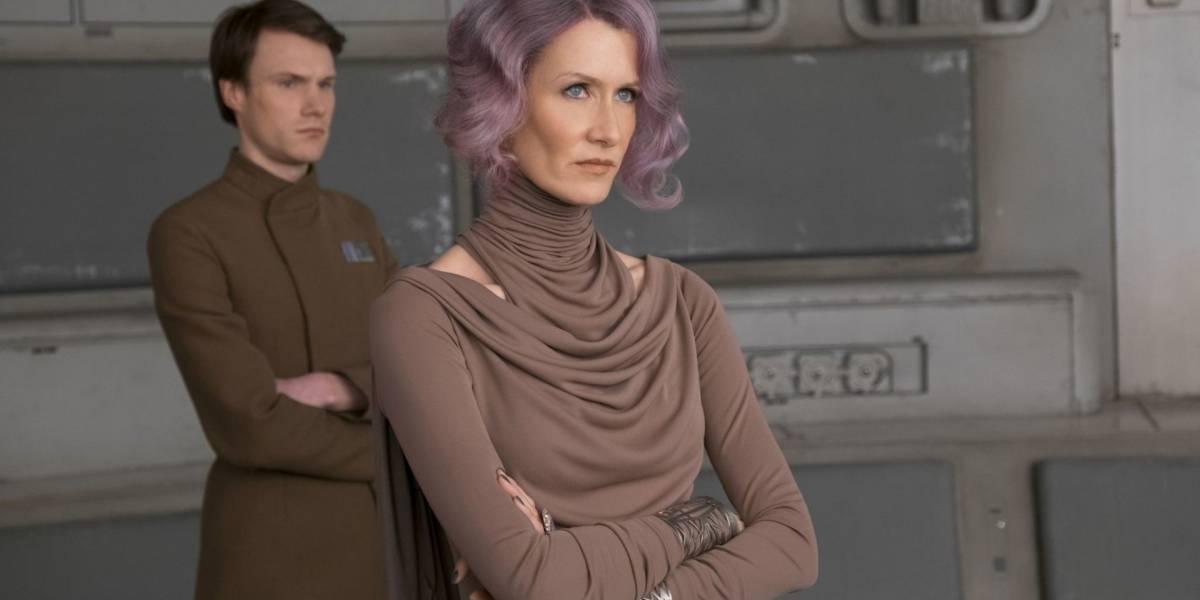 """Laura Dern decía """"Piu Piu"""" cada vez que disparaba en Star Wars: The Last Jedi"""