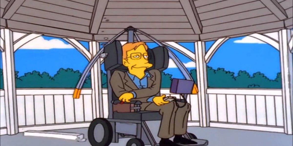 De esta manera Los Simpson le dijeron adiós a Stephen Hawking