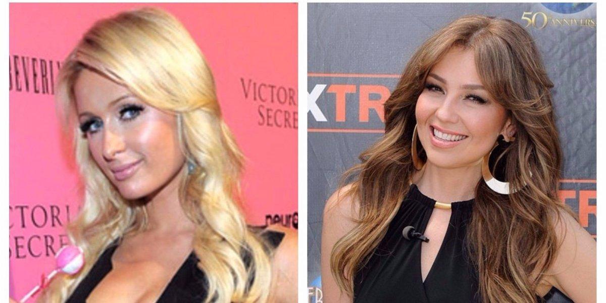 FOTOS. Paris Hilton usa el mismo vestido que Thalia por segunda vez
