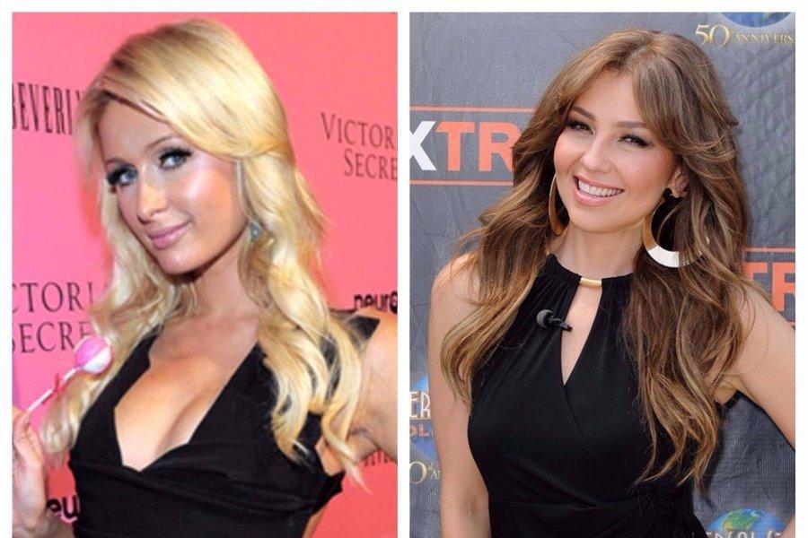 Fotos Paris Hilton Usa El Mismo Vestido Que Thalia Por