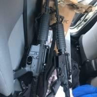 vehículo con armas y dinero en Amatitlán