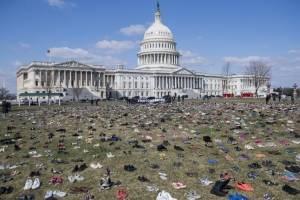 Zapatos en el Capitolio