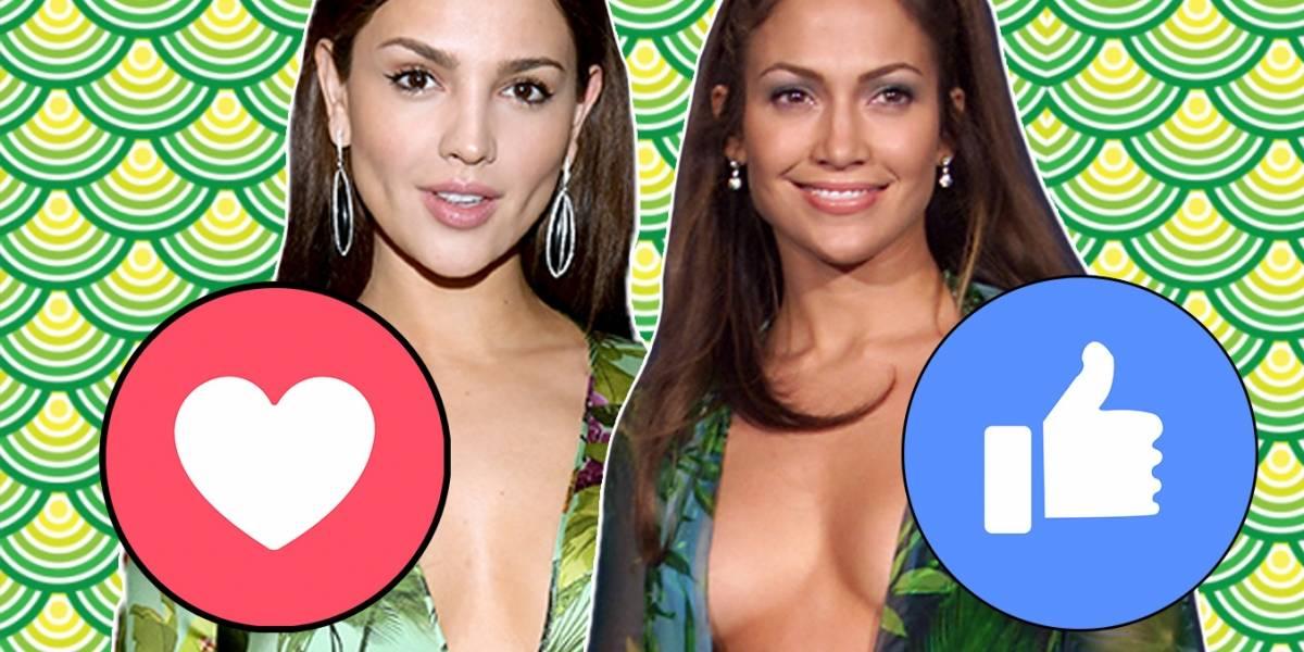 """Eiza González """"imitó"""" el vestido de J.Lo ¡y no puede ser más perfecto!"""