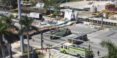 Puente derrumbado en Miami, Florida