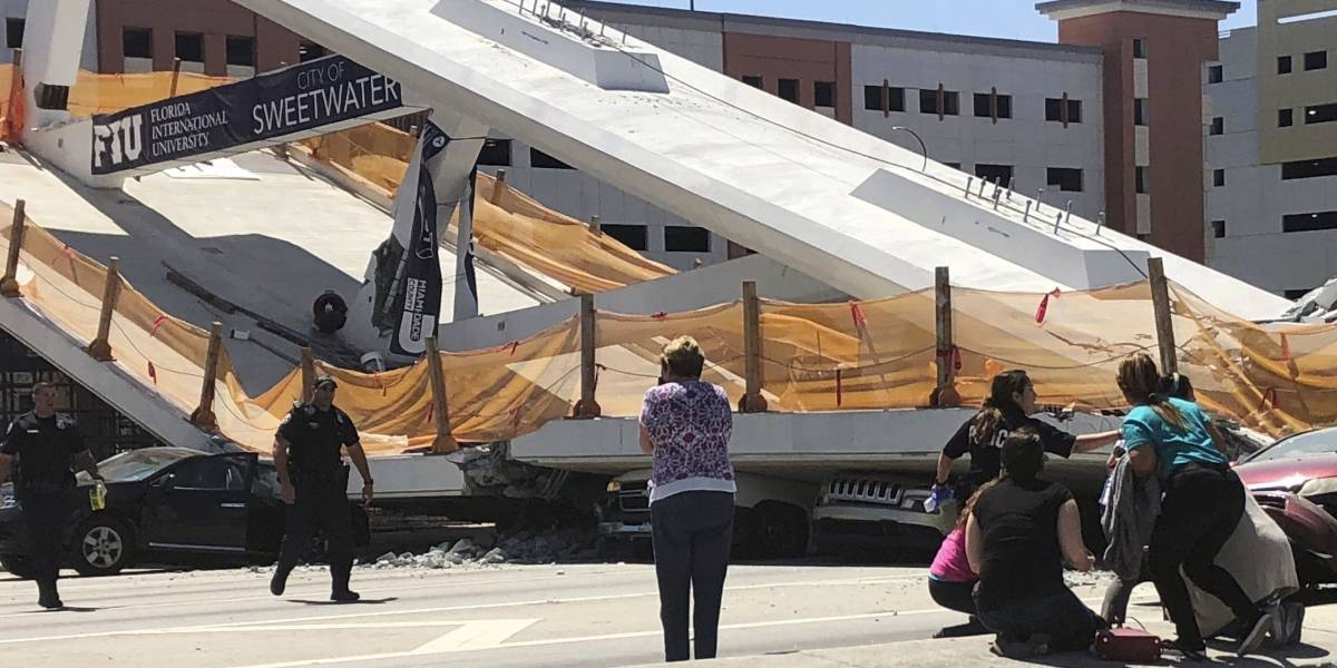 Lo que sabemos sobre el colapso del puente en Miami