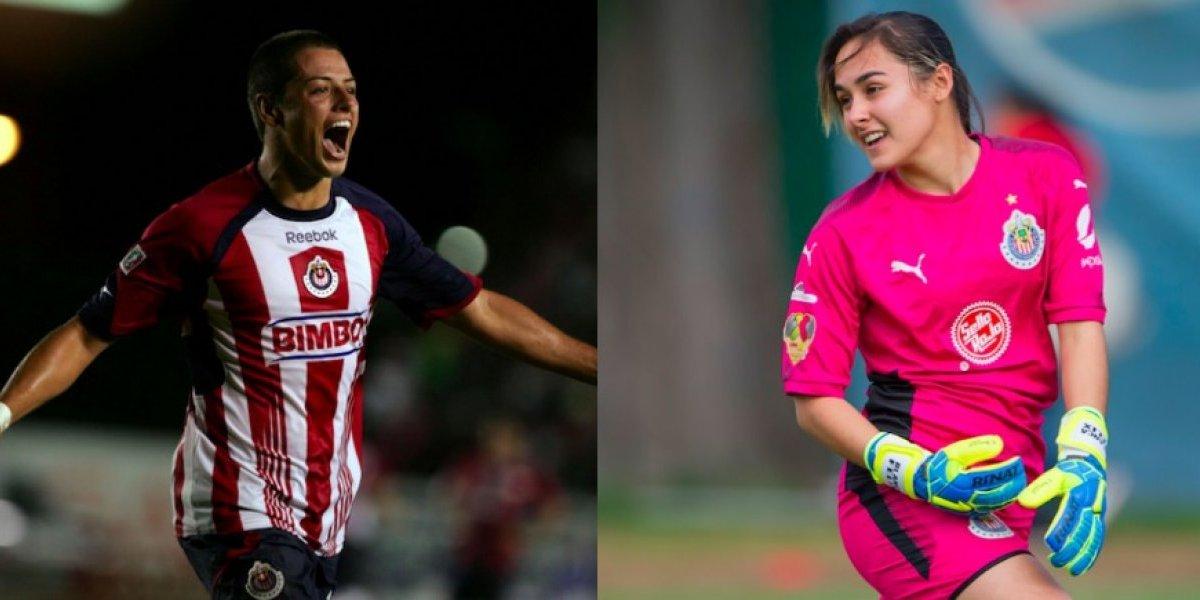 'Chicharito' Hernández responde elogio a portera de Chivas Femenil