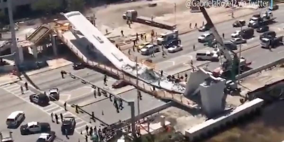 Colapsa puente en Universidad de Miami; al menos un muerto