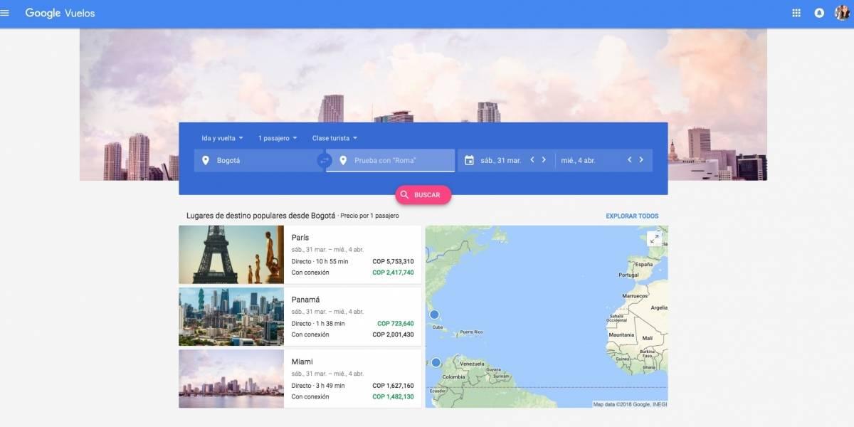 Así puedes buscar pasajes aéreos a un mejor precio — Google Flights