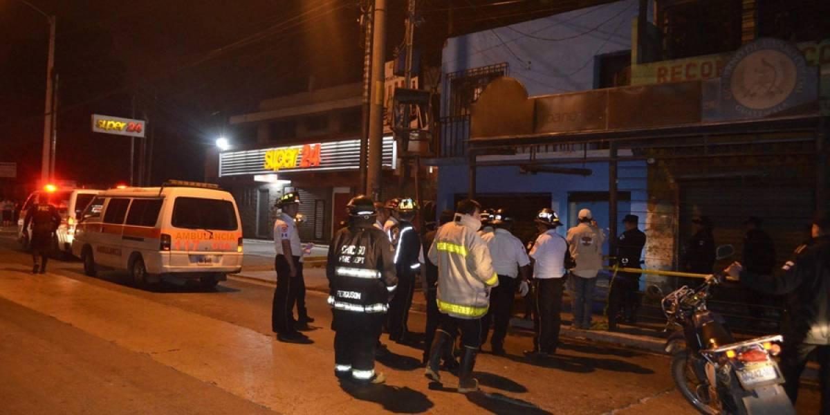 Cuatro muertos tras ataque armado en calzada José Milla y Vidaurre