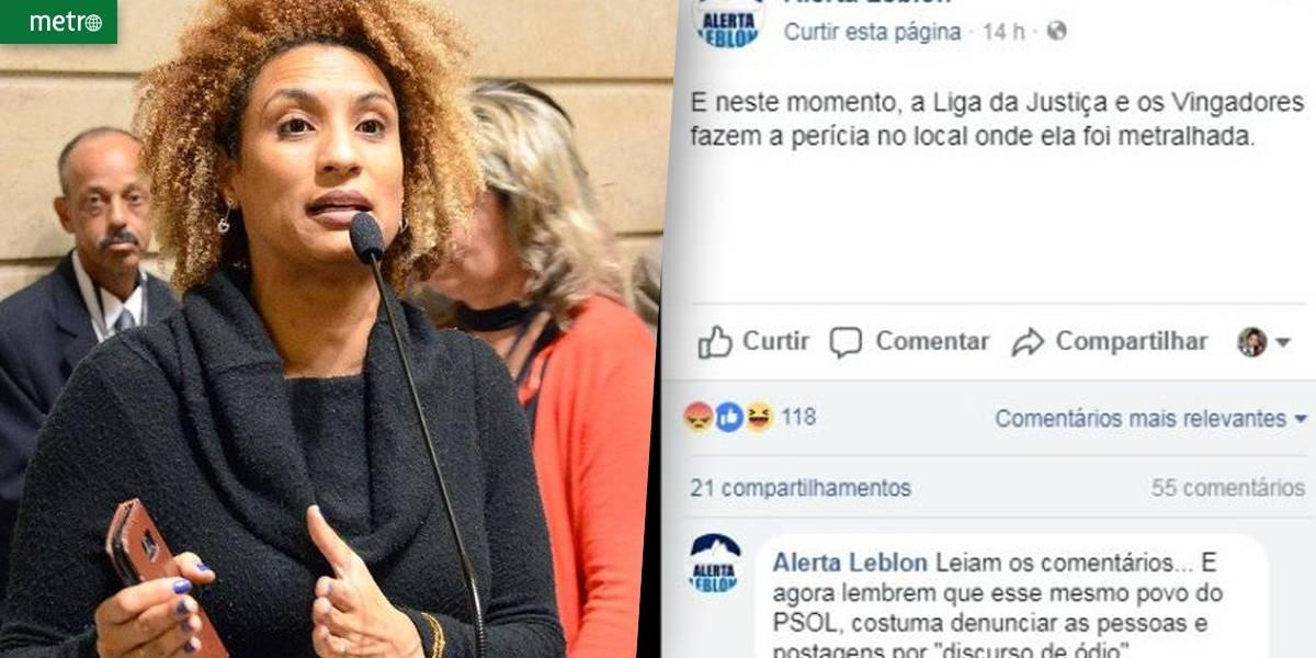 Página de moradores do Leblon ironiza morte de Marielle: 'Liga da Justiça'
