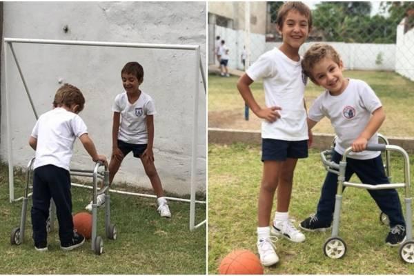 ejemplo, amistad, niños, inclusión