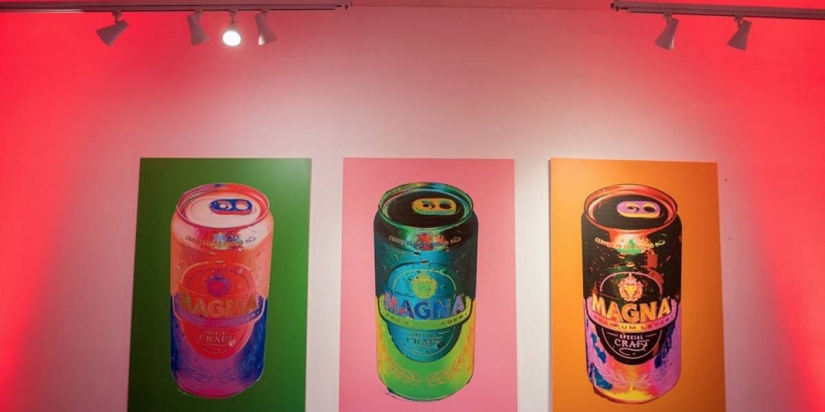 Transforma lata de cerveza Magna en arte pop