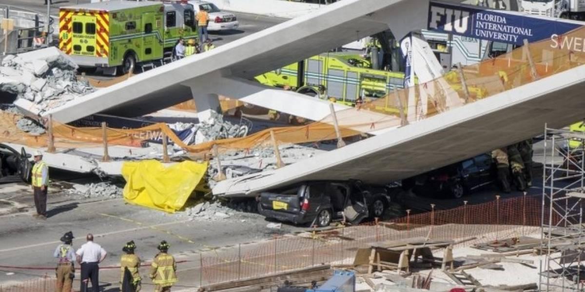Al menos 6 muertos en el colapso de un puente peatonal recién construido sobre una concurrida avenida de Miami