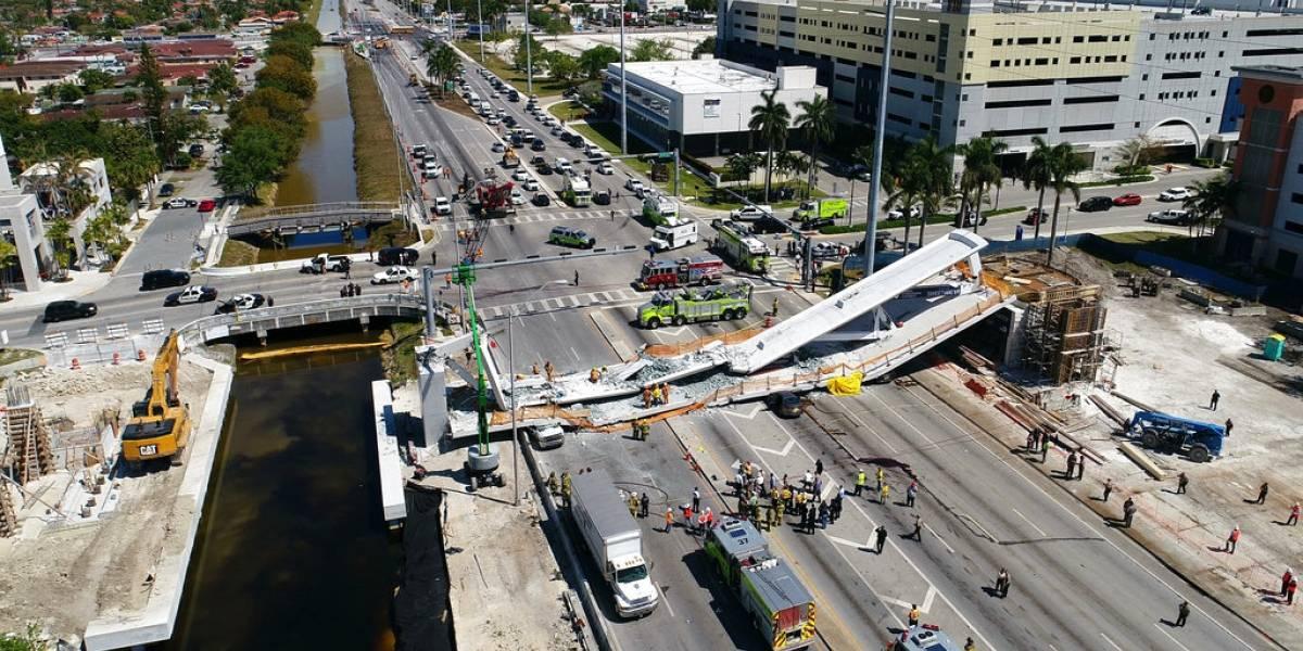 """La polémica que genera el """"puente instantáneo"""" que se derrumbó en Miami"""