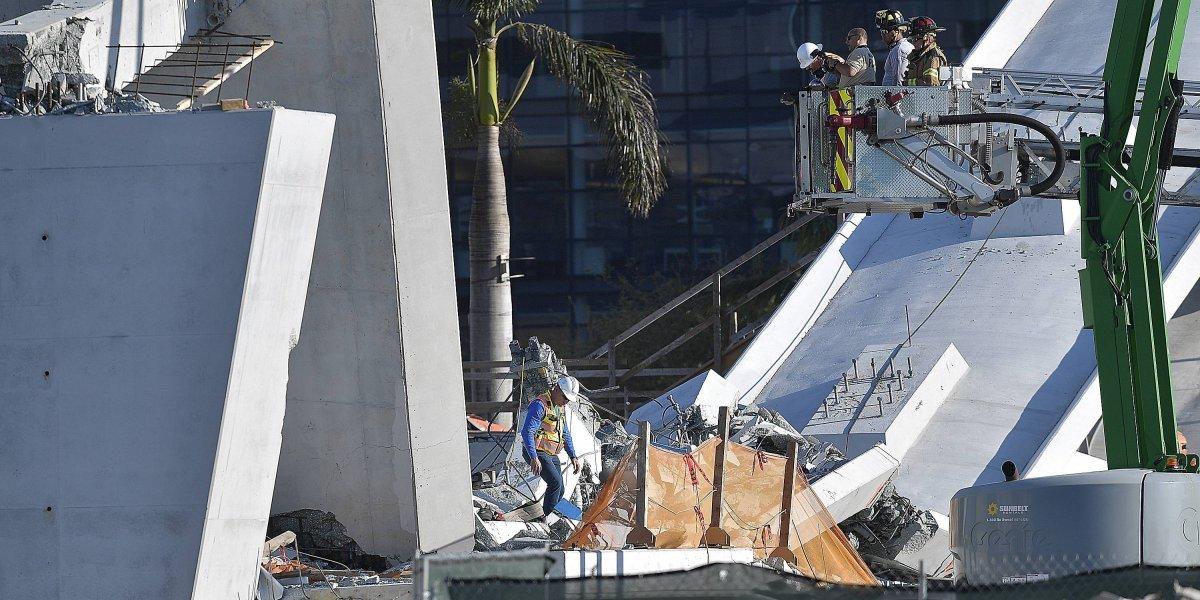 Suben a seis muertos por colapso puente en Florida