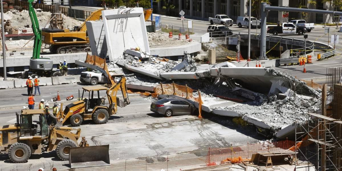 """""""Dios, nos salvamos de suerte"""": impactantes imágenes de sobreviviente de colapso del puente en Miami"""