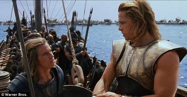 Garrett Hedlund and Brad Pitt