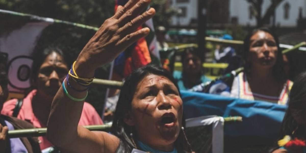 Mujeres indígenas llevan cuatro días esperando por una reunión con Lenín Moreno