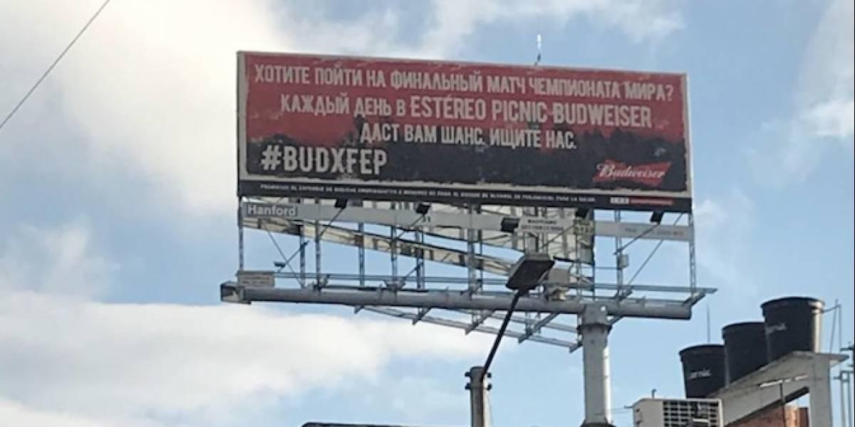 Los misteriosos mensajes escritos en ruso que están apareciendo en las calles de Bogotá