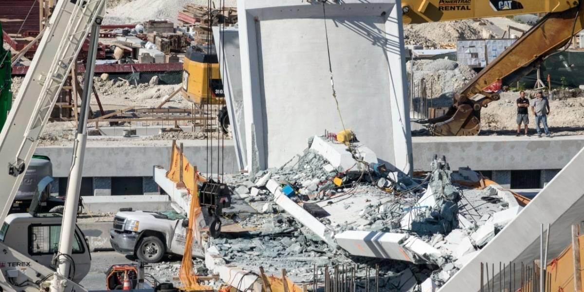 Al menos seis muertos por derrumbe de puente en Miami