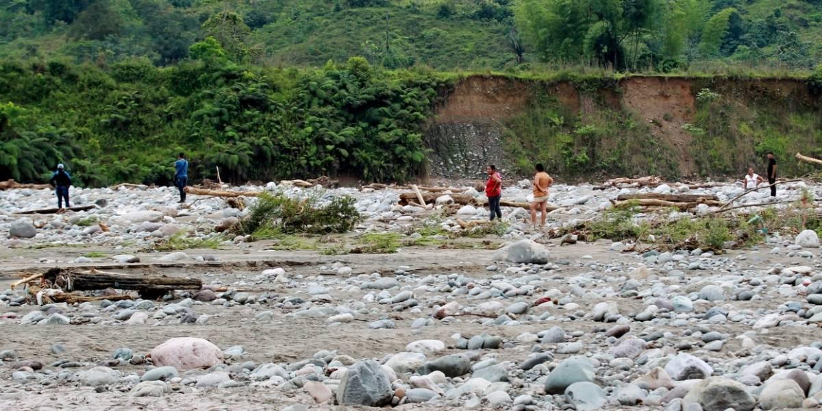 Avalancha dejó una persona desaparecida, 18 viviendas afectadas y grandes pérdidas materiales