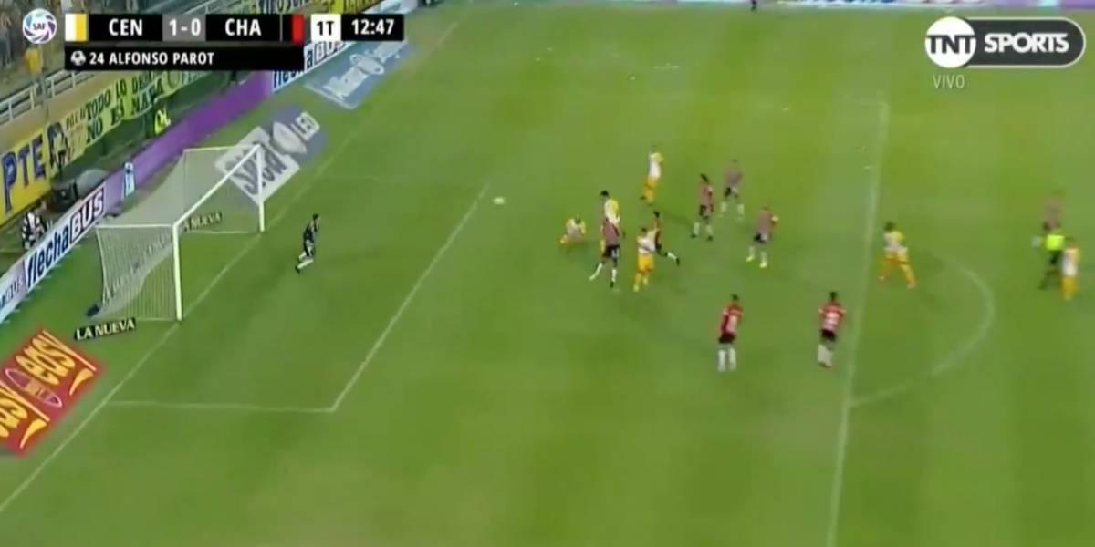 Alfonso Parot héroe y villano en Central: anotó otro gol y cometió grave error