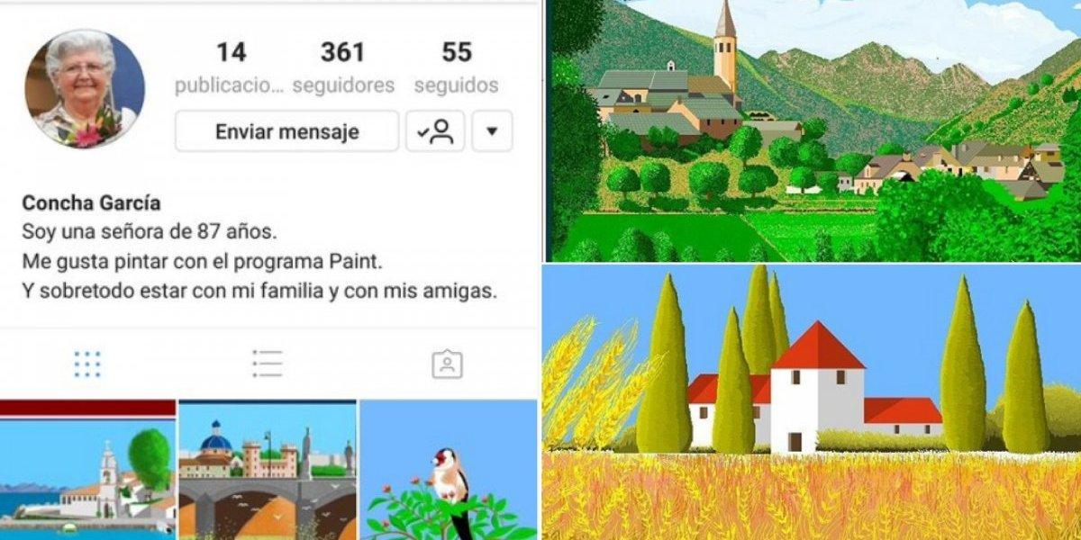 Avó de 87 anos cria obras de arte com o paint e faz sucesso no Instagram