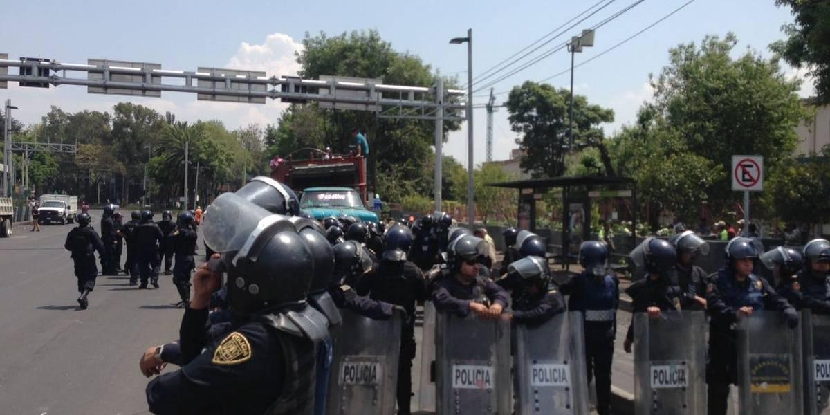 Retiro de vendedores ambulantes termina en enfrentamiento en el Metro Zapata