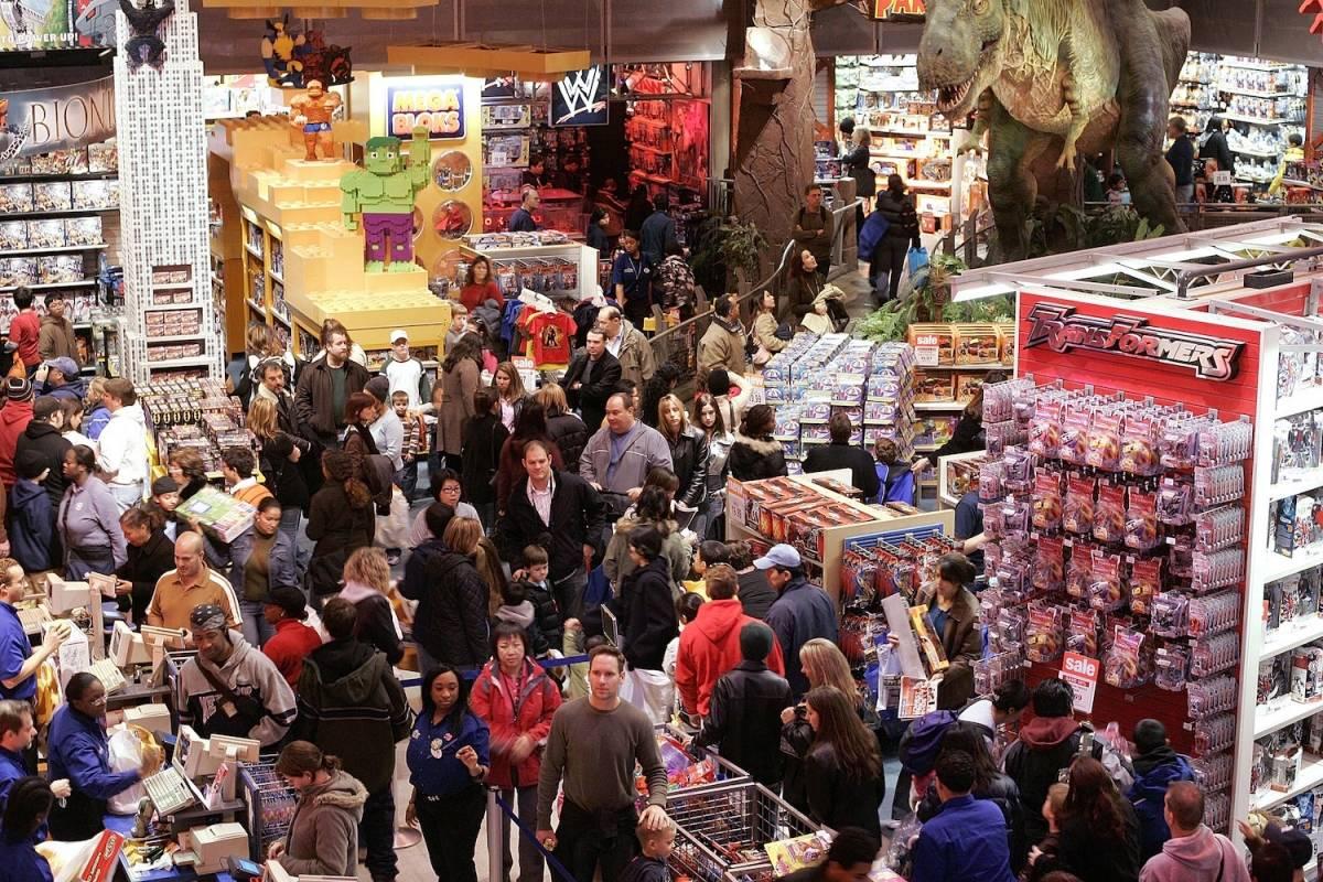 Black Friday al interior de la tienda (Noviembre de 2003) Foto: Getty Images
