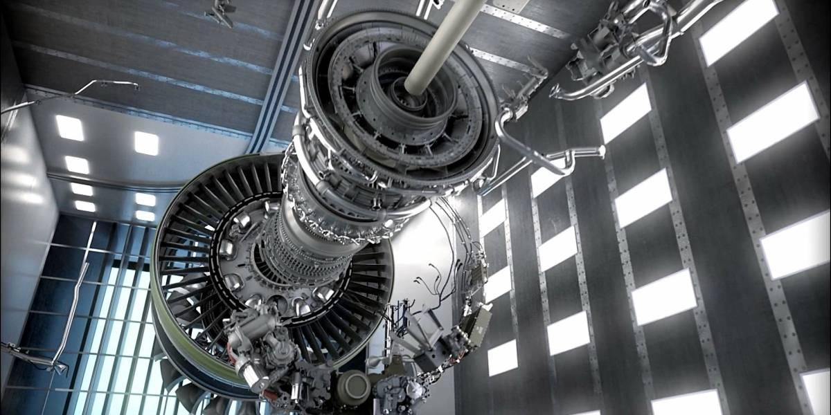 Así probaron el motor de avión más grande del mundo