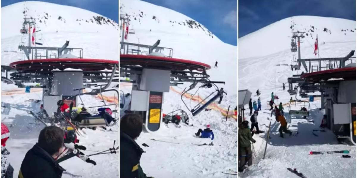 Andarivel se vuelve loco y lanza por los aires a decenas de personas ante la mirada horrorizada de cientos de turistas