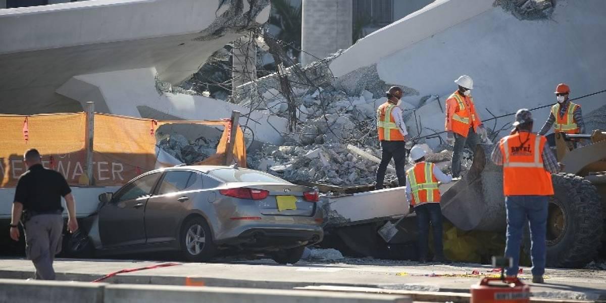 Aviso de grietas en puente caído en Miami no fue escuchado