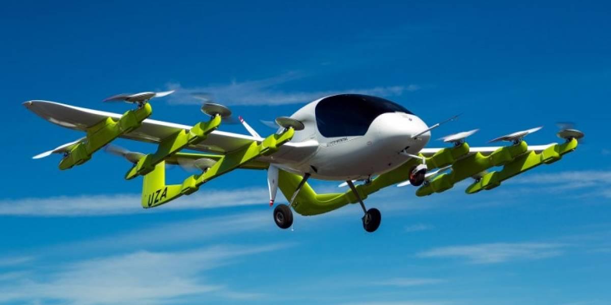 Cofundador de Google realiza pruebas de taxis voladores
