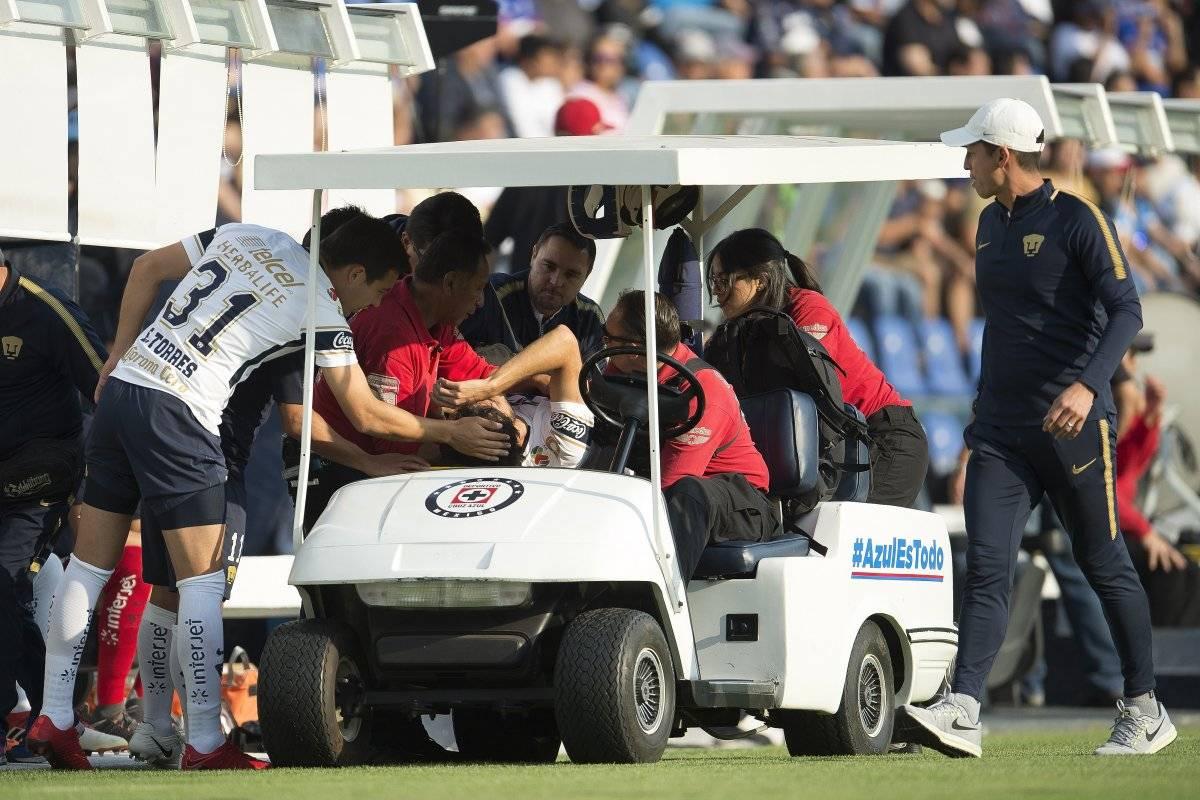 Así salió Alejadro Arribas tras la fuerte lesión que sufrió en el Estadio Azul