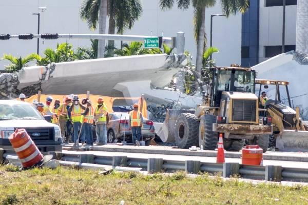 Colapso de puente en Miami