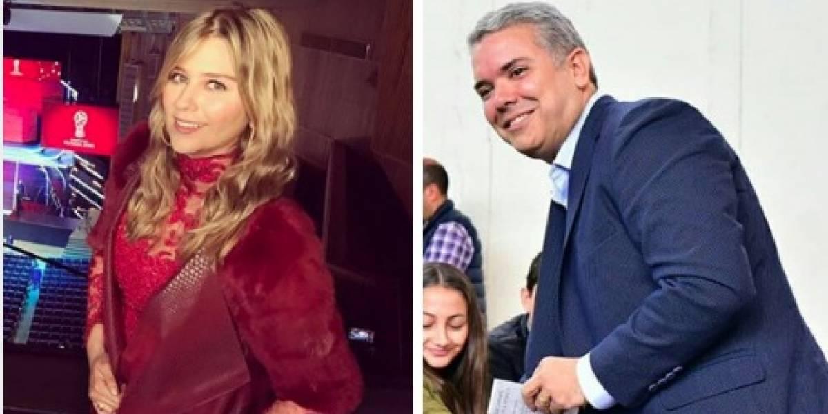 Por foto junto a Iván Duque, Andrea Guerrero es criticada