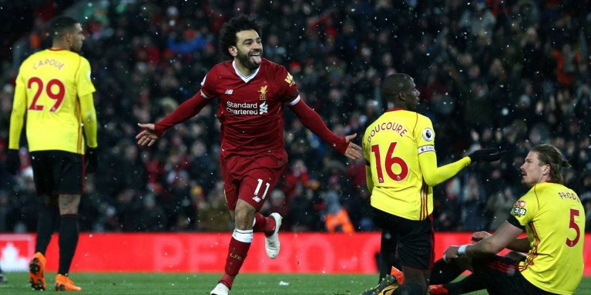 Con cuatro goles de Salah: Liverpool destroza al Watford y no pierde pisada en la Premier
