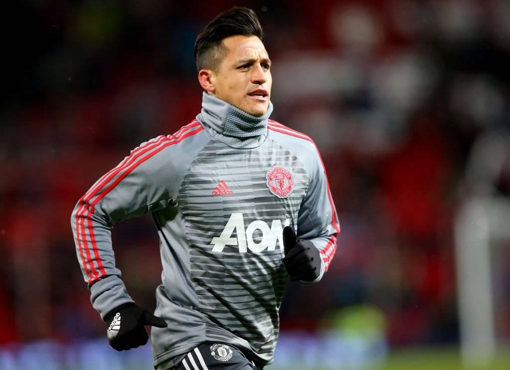 Alexis hizo los ejercicios previos, pero no ingresó en el United / Foto: Getty Images