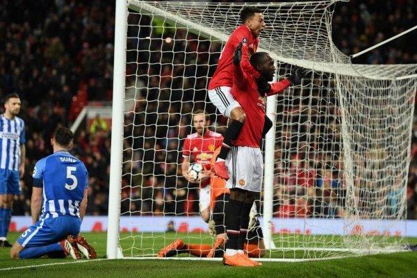 Lukaku celebrando la apertura de la cuenta para el United ante el Brighton / Foto: Getty Images