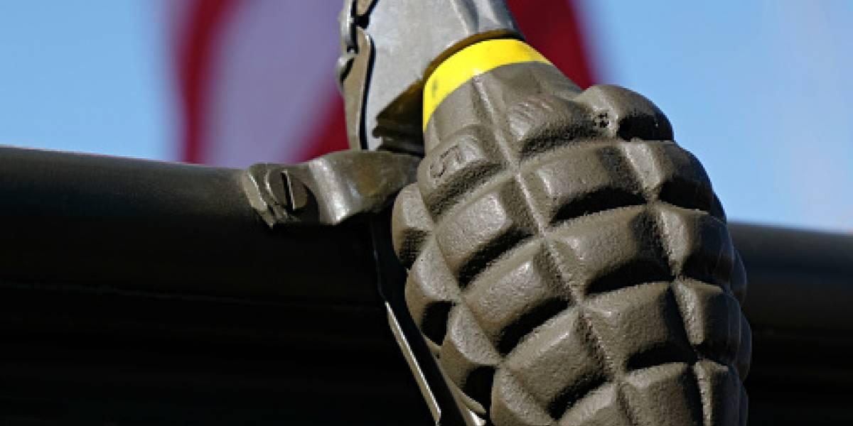 Capturan hombre que viajaba con 12 granadas de mortero en su equipaje