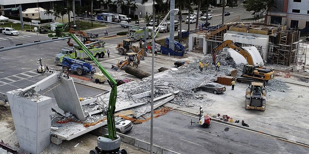 Denuncian incompetencia por derrumbe de puente en Florida